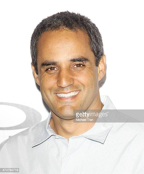 Juan Pablo Montoya arrives at Oakley's 'Disruptive by Design' launch event held at Red Studios on February 24 2014 in Los Angeles California