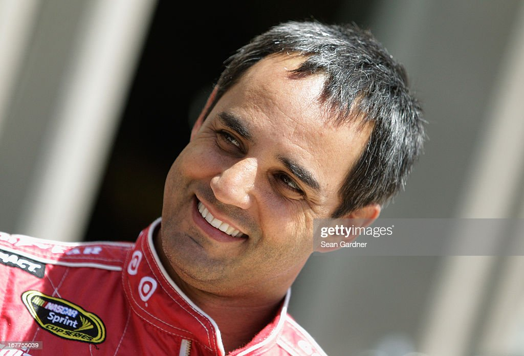 <a gi-track='captionPersonalityLinkClicked' href=/galleries/search?phrase=Juan+Pablo+Montoya&family=editorial&specificpeople=202004 ng-click='$event.stopPropagation()'>Juan Pablo Montoya</a>, driver of the #42 Target Chevrolet, smiles during NASCAR Sprint Cup Series Gen-6 Testing at Texas Motor Speedway on April 11, 2013 in Fort Worth, Texas.