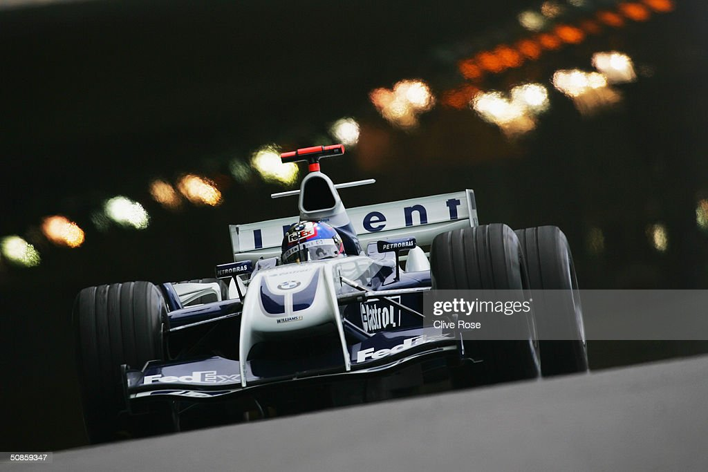 Juan Pablo Montoya of Colombia and Williams in action during practice for the Monaco F1 Grand Prix May 20, 2004, in Monte Carlo, Monaco.
