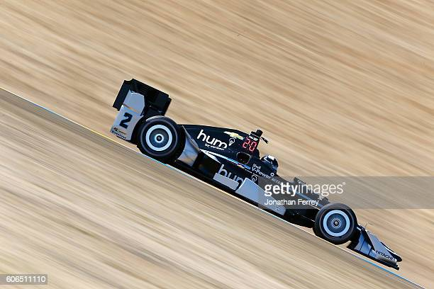 Juan Pablo Montoya of Columbia drives the Team Penske Verizon Chevrolet Dallara during practice for he GoPro Grand Prix of Sonoma at Sonoma Raceway...
