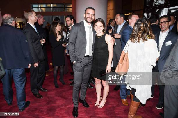 Juan Pablo Raba and Daphne Corboz attend the 2017 AE Networks Upfront At Jazz At Lincoln Center's Frederick P Rose Hall on March 21 2017 in New York...