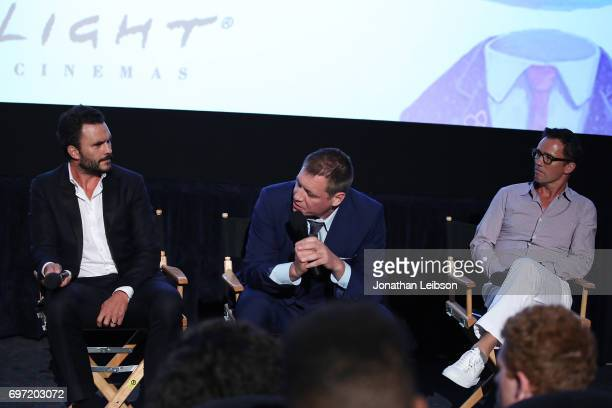 Juan Pablo Raba Holt McCallany and Jeffrey Donovan attend the ATT And Saban Films Present The LAFF Gala Premiere Of Shot Caller at ArcLight Cinemas...