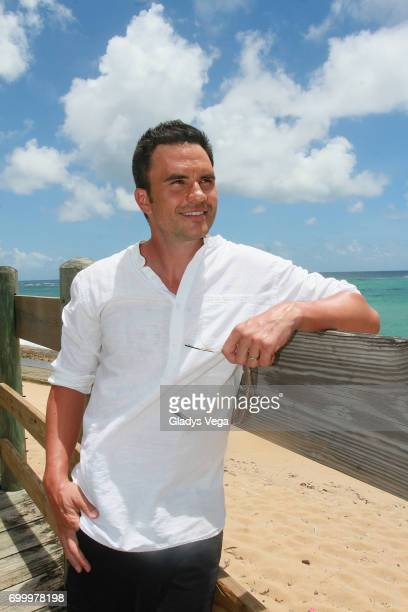 Juan Pablo Raba poses as part of press conference of movie 'Imprisoned' on June 22 2017 in Loiza Puerto Rico