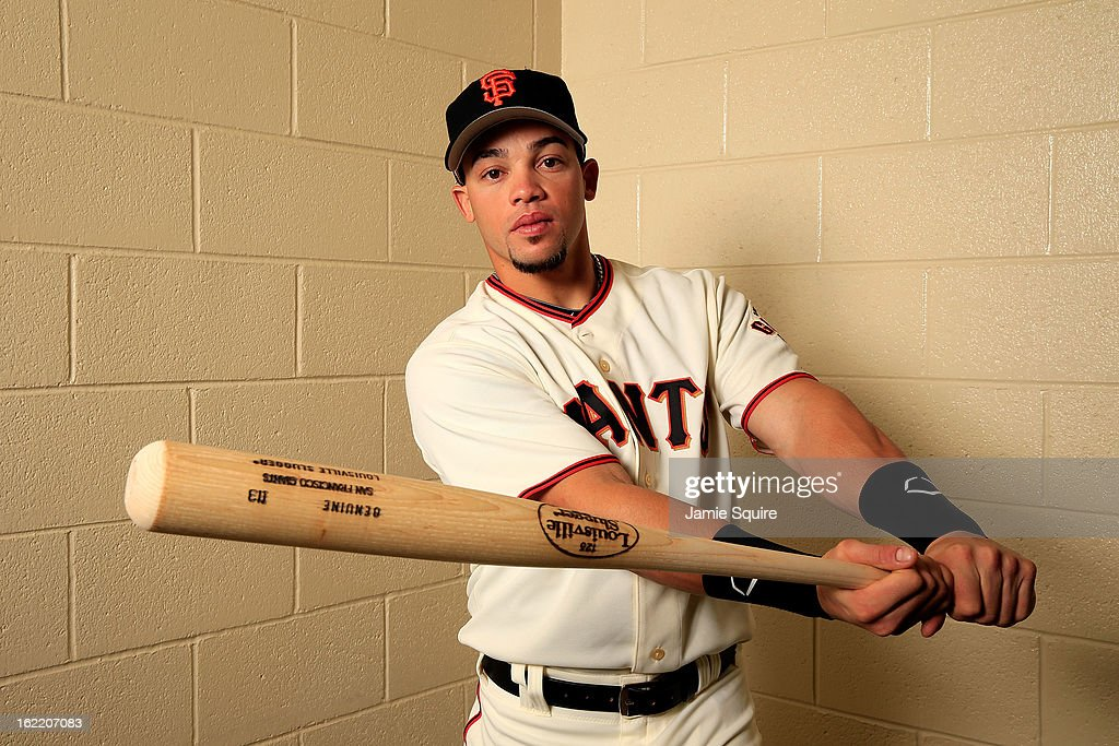 Juan Perez poses for a portrait during San Francisco Giants Photo Day on February 20, 2013 in Scottsdale, Arizona.