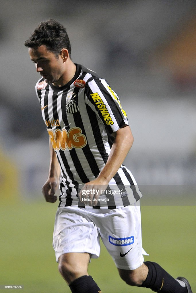 Juan player of Santos during a match between Corinthians and Santos as part of the Brazilian Serie A Championship 2012 at Pacaembu Stadium on November 24, 2012 in Sao Paulo, Brazil.