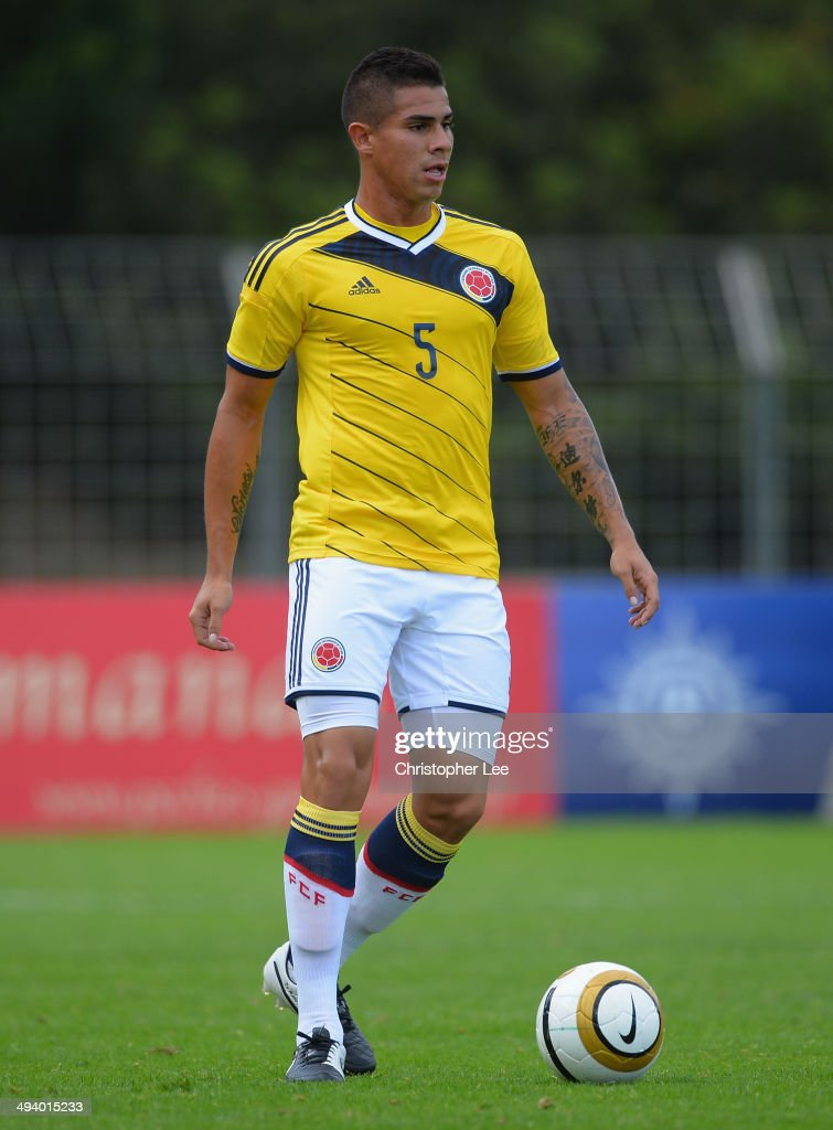 Juan Quintero of Colombia during the Toulon Tournament Group B match between Colombia and South Korea at the Stade Louis Hon on May 26, 2014 in Saint-Raphael, France.