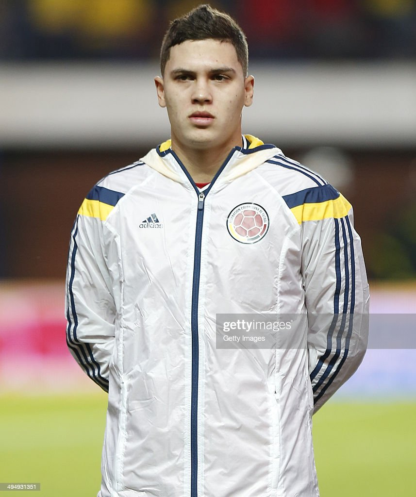 Juan Quintero of Colombia looks on before the International Friendly Match between Colombia and Senegal at Pedro Bidegain Stadium on May 31 2014 in...