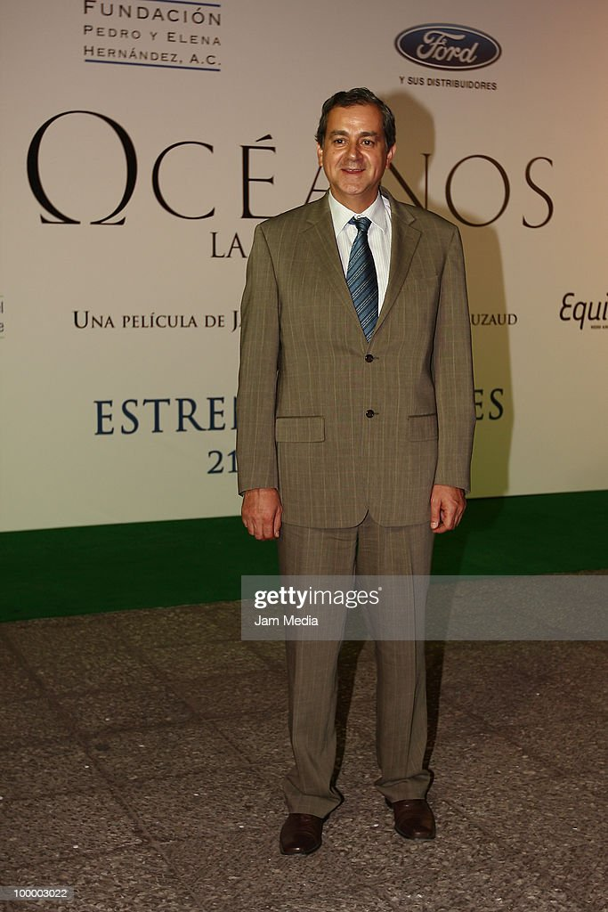 Juan Rafael Elvira Quesada, Secretary of the Environment, poses for a photograph at the green carpet of the movie ?Oceanos? at the National Auditorium on May 19, 2010 in Mexico City, Mexico.