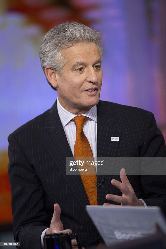 Juan Ramon Alaix, chief executive officer of Zoetis Inc., speaks during an interview in New York, U.S., on Friday, Feb. 1, 2013. Zoetis Inc., the animal-health company owned by Pfizer Inc., surged as much as 22 percent in its debut after raising $2.24 billion in its initial public offering, pricing the shares above the proposed price range. Photographer: Scott Eells/Bloomberg via Getty Images
