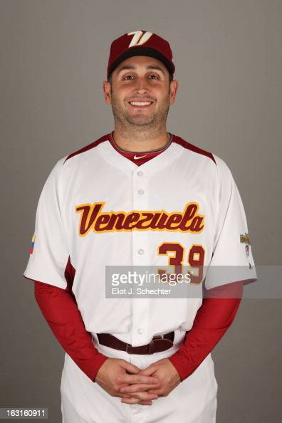 Juan Rincon of Team Venezuela poses for a headshot for the 2013 World Baseball Classic at Roger Dean Stadium on Monday March 4 2013 in Jupiter Florida