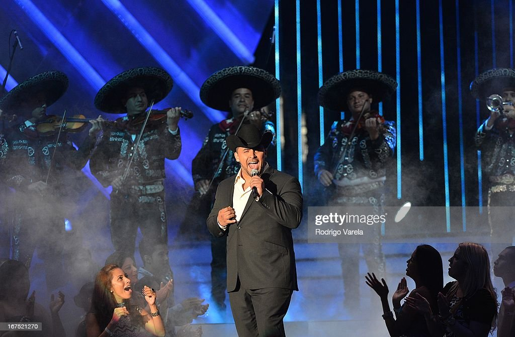 Juan Rivera performs at Billboard Latin Music Awards 2013 at Bank United Center on April 25, 2013 in Miami, Florida.