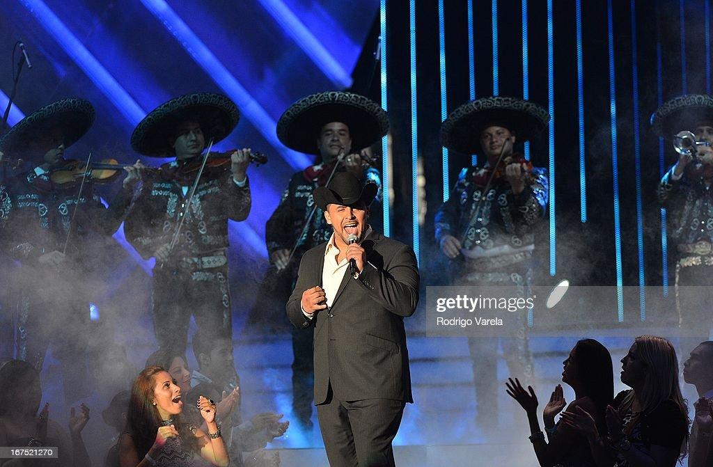 Juan Rivera performs at Billboard Latin Music Awards 2013 at Bank United Center on April 25, 2013 in Miami, Florida.