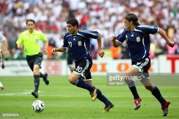 Juan Roman RIQUELME / Hernan CRESPO Allemagne / Argentine 1/4 Finale Coupe du Monde 2006