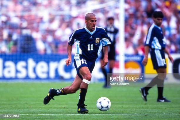 Juan Sebastian Veron Argentine / Croatie Coupe du Monde 1998 Photo Alain Gadoffre / Icon Sport