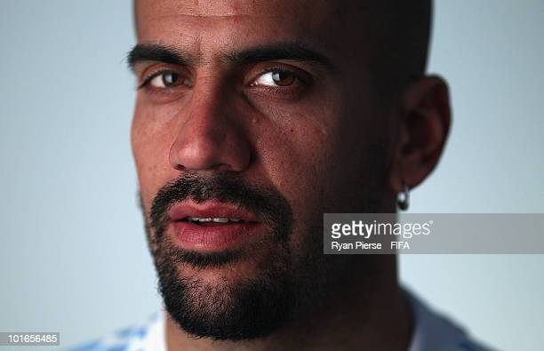 Juan Sebastian Veron of Argentina poses during the official FIFA World Cup 2010 portrait session on June 5 2010 in Pretoria South Africa