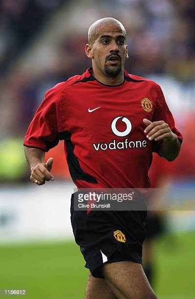 Juan Sebastien Veron of Manchester United in action during the pre season friendly match against Shelbourne played at Tolka Park Dublin Ireland on...
