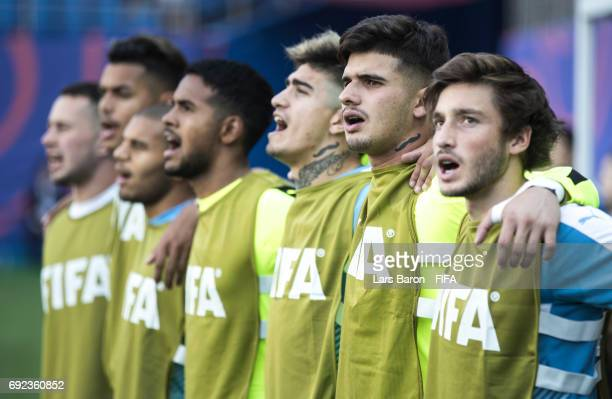 Juan Tinaglini of Uruguay is seen during the FIFA U20 World Cup Korea Republic 2017 Quarter Final match between Portugal and Uruguay at Daejeon World...