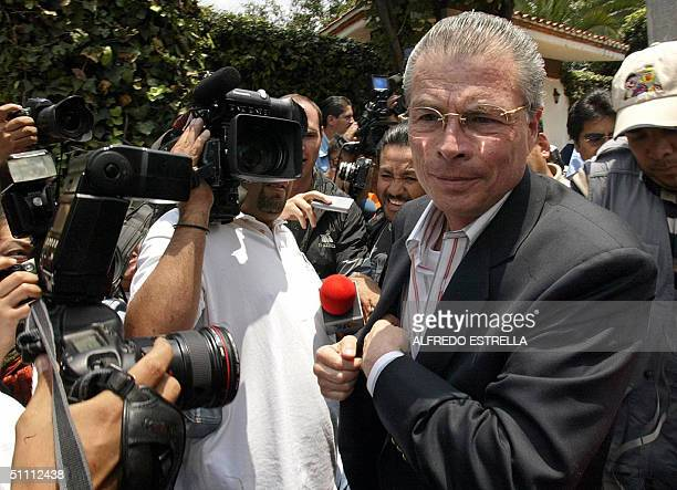 Juan Velazquez lawyer of Mexican ex president Luis Echeverria Alvarez arrives at former head of state's house 24 July 2004 in Mexico City A Mexican...