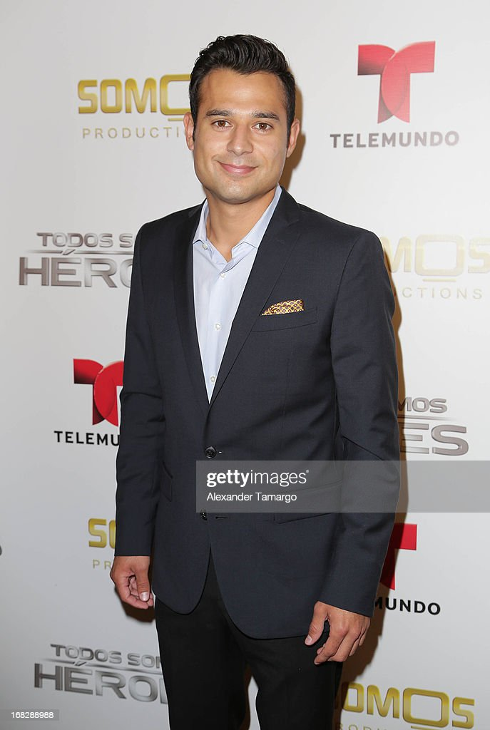 Juan Venegas attends Telemundo's Todos Somos Heroes Gala on May 7, 2013 in Miami, Florida.