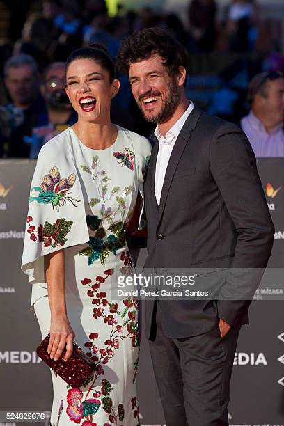 Juana Acosta and Daniel Grao attend 'Julie' premiere during the 19th Malaga Film Festival on April 26 2016 in Malaga Spain