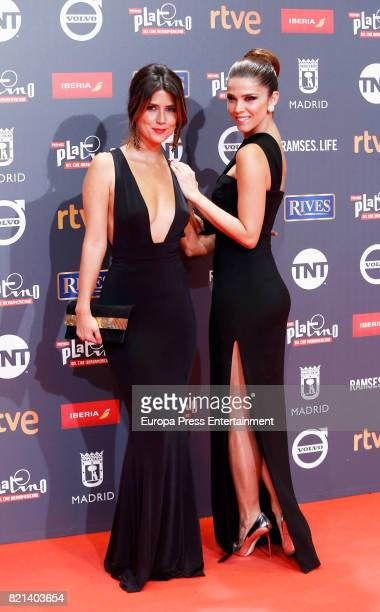 Juana Acosta and Valentina Acosta attend Platino Awards 2017 at La Caja Magica on July 22 2017 in Madrid Spain