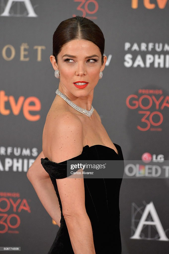 <a gi-track='captionPersonalityLinkClicked' href=/galleries/search?phrase=Silvia+Abascal&family=editorial&specificpeople=605766 ng-click='$event.stopPropagation()'>Silvia Abascal</a> attends Goya Cinema Awards 2016 at Madrid Marriott Auditorium on February 6, 2016 in Madrid, Spain.
