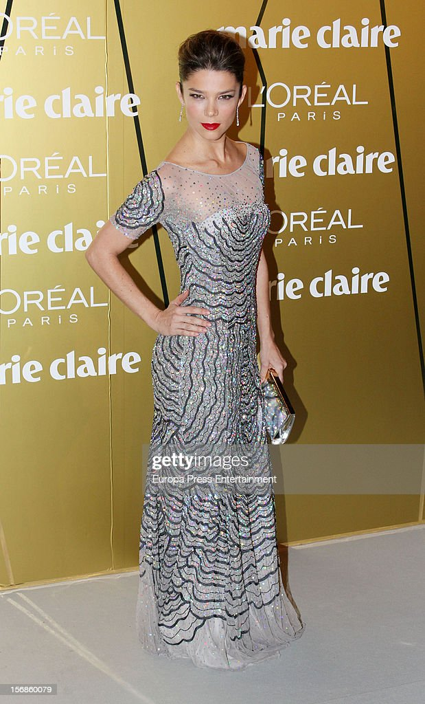 Juana Acosta attends Marie Claire Prix de la Moda Awards 2012 on November 22, 2012 in Madrid, Spain.