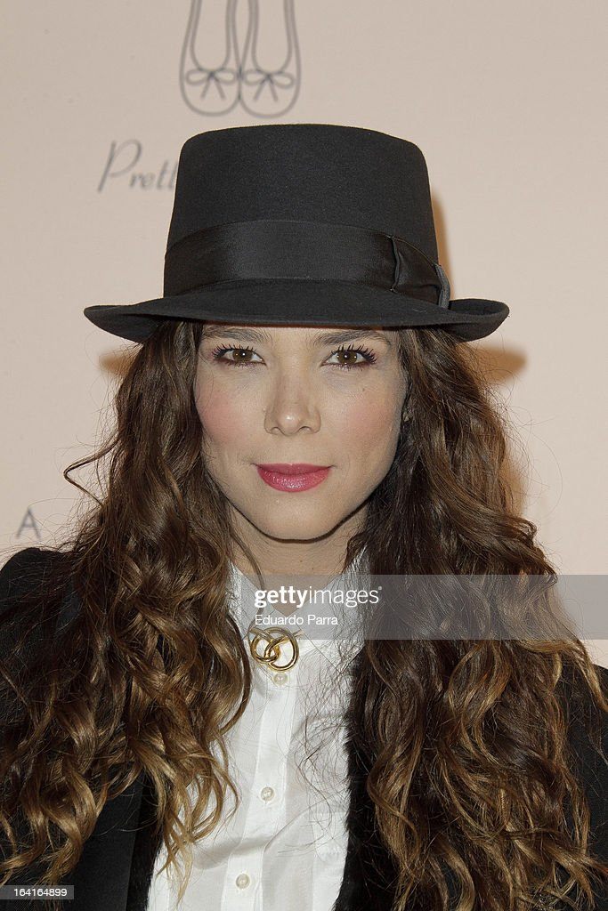 Juana Acosta attends Pretty Ballerinas photocall party at Ramses bar on March 20, 2013 in Madrid, Spain.