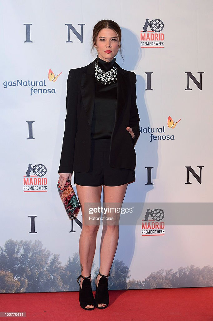 Juana Acosta attends the premiere of 'Fin' at Callao Cinema on November 20, 2012 in Madrid, Spain.
