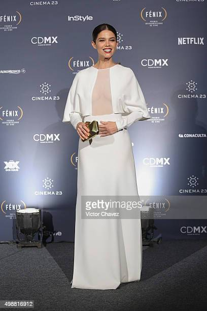 Juana Acosta attends the Premio Iberoamericano de Cine Fenix 2015 at Teatro de La Ciudad on November 25 2015 in Mexico City Mexico