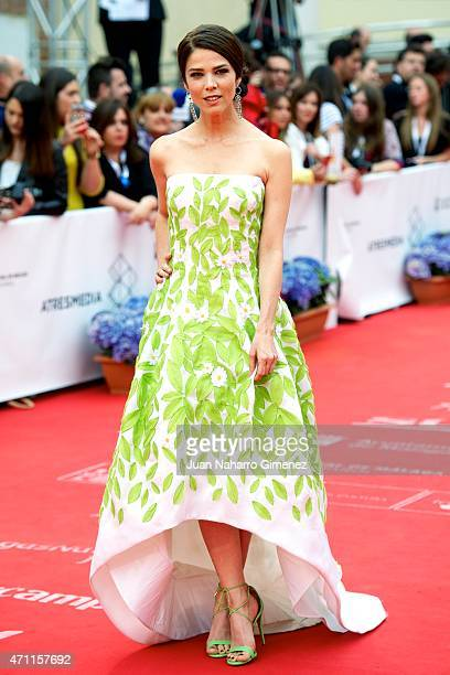 Juana Acosta attends the 'Solo Quimica' premiere during the 18th Malaga Spanish Film Festival at the Cervantes Theater on April 25 2015 in Malaga...