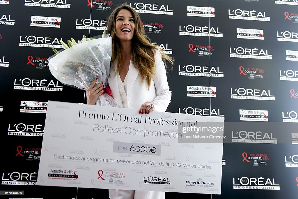 Juana Acosta receives the 'Premio Belleza Comprometida de L'Oreal Professionnel 2013 during the Malaga Film Festival at AC Malaga Palacio Hotel on April 26, 2013 in Malaga, Spain.