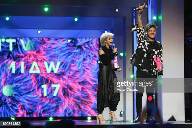 Juana Martinez speaks on stage during the MTV MIAW Awards 2017 at Palacio de Los Deportes on June 3 2017 in Mexico City Mexico
