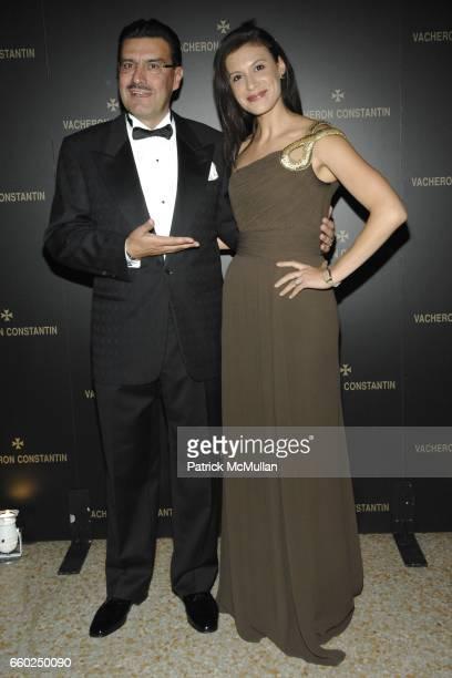 JuanCarlos Torres and Tatiana Boncompagni attend VACHERON CONSTANTIN Unveils 'LES MASQUES' at the Metropolitan Museum of Art on June 2 2009 in New...