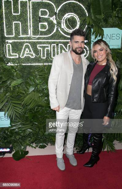 Juanes and Karol G arrive to the HBO Latino 'The Juanes Effect' Red Carpet Premiere on May 18 2017 in Miami Beach Florida