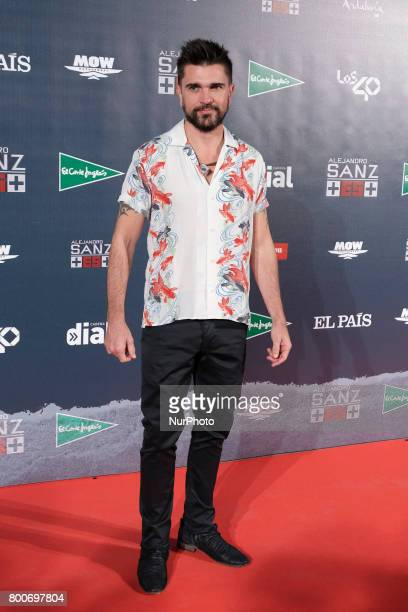 Juanes attends the 'Mas Es Mas' concert photocall at Vincente Calderon stadium on June 24 2017 in Madrid Spain