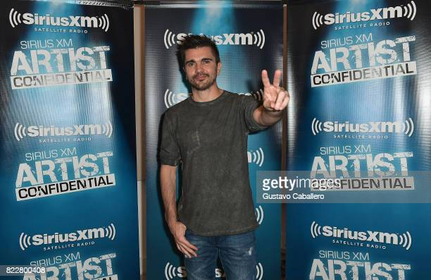 Juanes attendsthe SiriusXM's Artist Confidential Series at the artist's qwn studios on July 25 2017 in Doral Florida