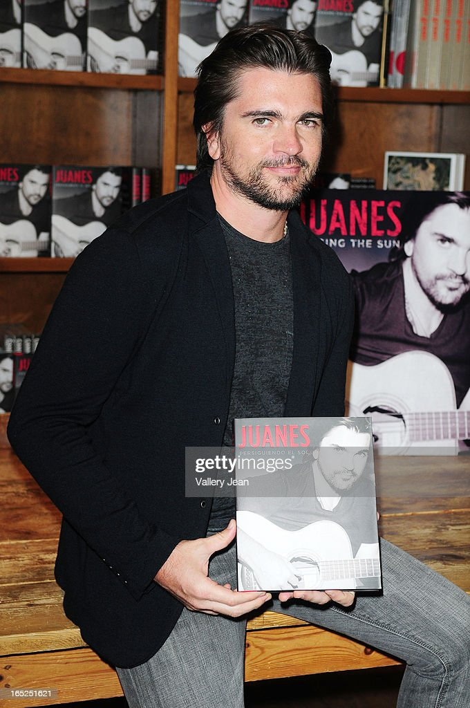 Juanes greets fans and signs copies of his book 'Chasing The Sun' at Books and Books on April 1, 2013 in Coral Gables, Florida.