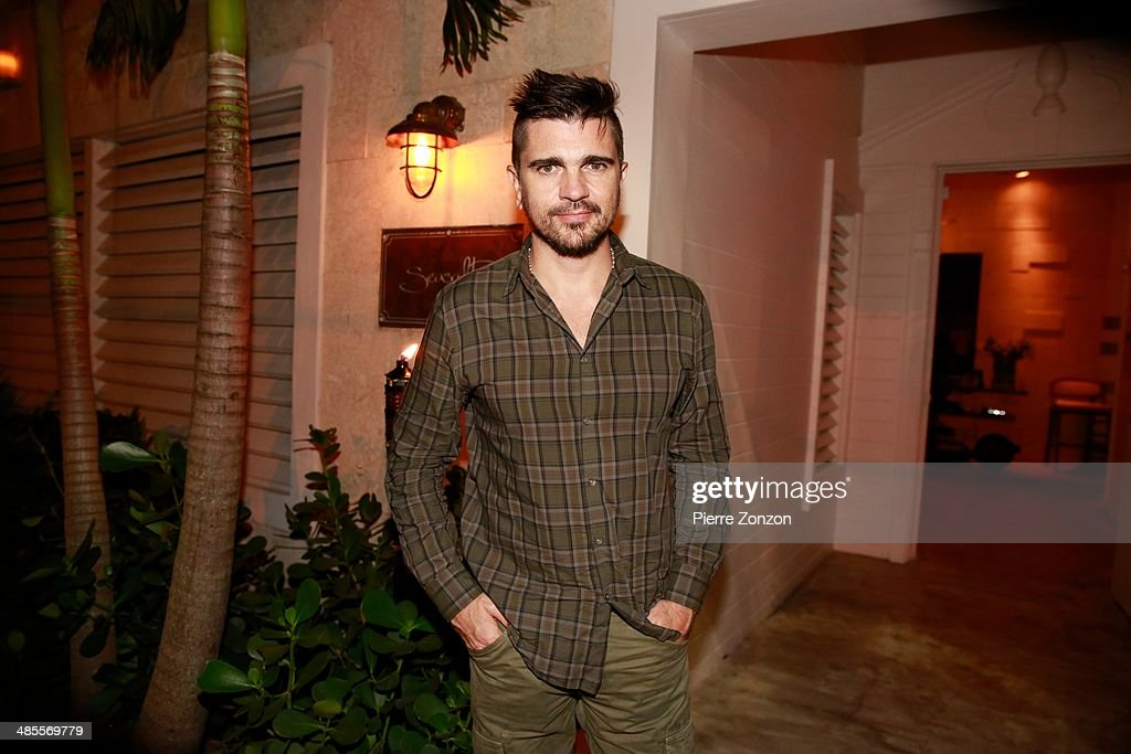 Juanes is seen at Seasalt and Pepper restaurant on April 18, 2014 in Miami, Florida.