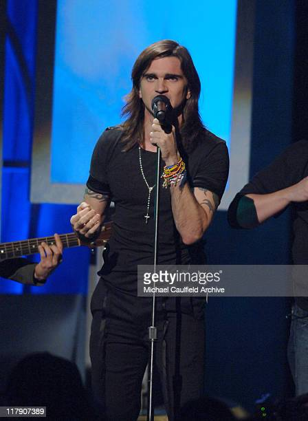 Juanes performs 'La Camisa Negra' during The 6th Annual Latin GRAMMY Awards Show at Shrine Auditorium in Los Angeles CA United States