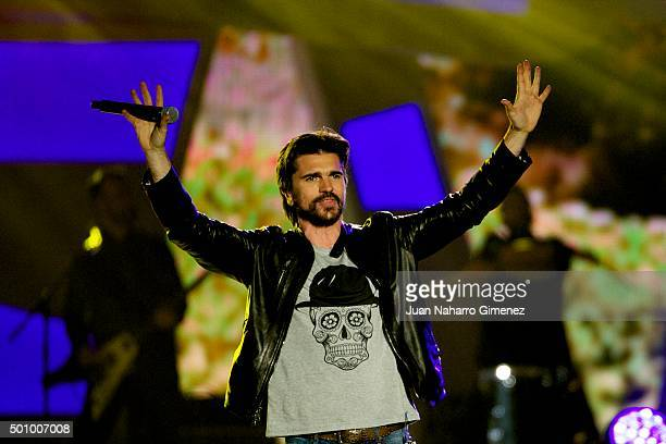 Juanes performs on stage during '40 Principales Awards 2015 Gala' at Barclaycard Center on December 11 2015 in Madrid Spain