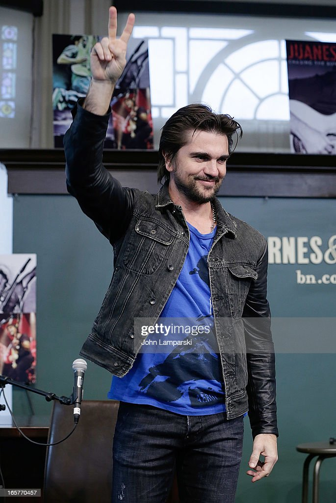 Juanes promotes 'Chasing The Sun' at Barnes & Noble Union Square on April 5, 2013 in New York City.