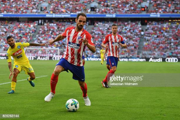 Juanfran of Atletico Madrid in action during the Audi Cup 2017 match between Club Atletico de Madrid and SSC Napoli at Allianz Arena on August 1 2017...