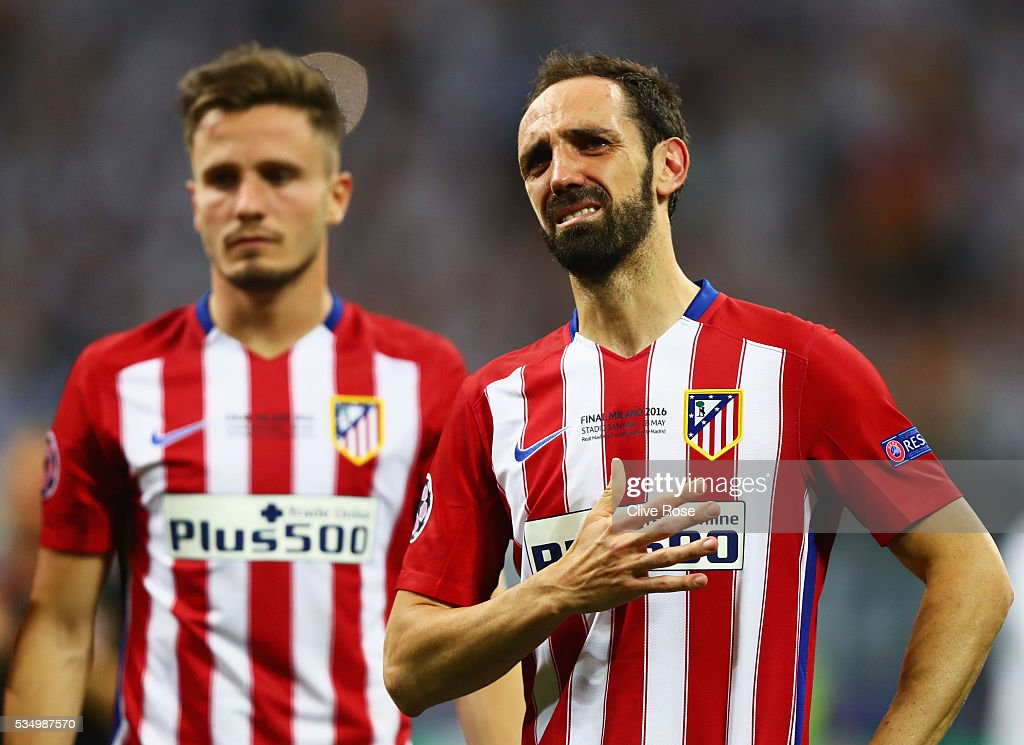 <a gi-track='captionPersonalityLinkClicked' href=/galleries/search?phrase=Juanfran+-+Soccer+Right+Back+born+1985&family=editorial&specificpeople=2634439 ng-click='$event.stopPropagation()'>Juanfran</a> of Atletico Madrid shows his dejection during the UEFA Champions League Final match between Real Madrid and Club Atletico de Madrid at Stadio Giuseppe Meazza on May 28, 2016 in Milan, Italy.