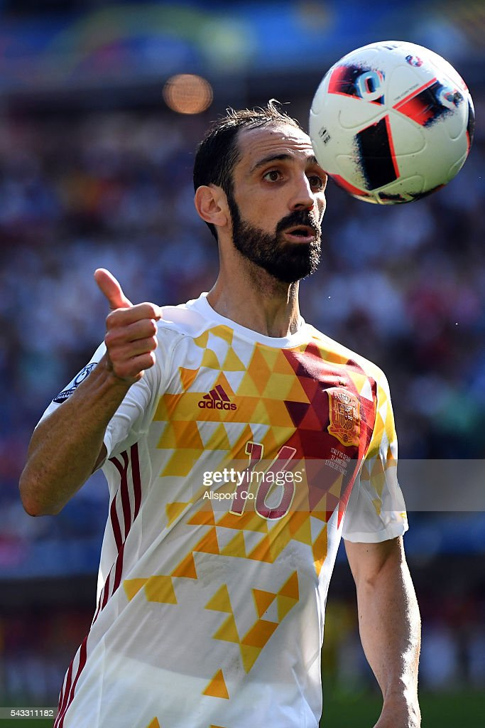 Juanfran of Spain during the UEFA EURO 2016 round of 16 match between Italy and Spain at Stade de France on June 27, 2016 in Paris, France.
