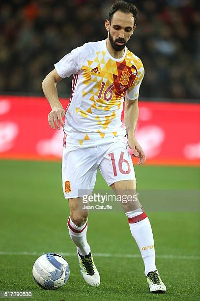 Juanfran of Spain in action during the international friendly match between Italy and Spain at Stadio Friuli on March 24 2016 in Udine Italy