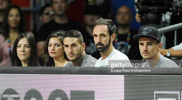 Juanfran Torres Jorge Resurreccion 'Koke' and Antoine Griezmann are seen during the 2014 FIBA World Basketball Championship quarter final match...