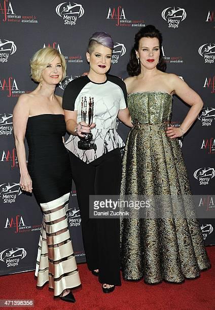 Juanita D Duggan Kelly Osbourne and Debi Mazar attend the AAFA American Image Awards at 583 Park Avenue on April 27 2015 in New York City