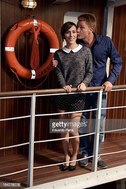 Juanjo Artero and Irena Montala attend 'El barco' third season presentation at Adisar studios on October 17 2012 in Madrid Spain
