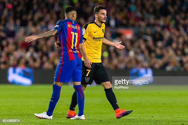 Juankar expelled during the match between FC Barcelona vs Malaga CF for the round 12 of the Liga Santander played at Camp Nou Stadium on 19th...